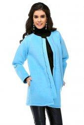 Bonalodi Bebe Mavi Polar Kadın Kaban Ceket