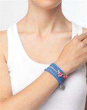 Bonalodi Lady Aksesuarlı Mavi Süet Bileklik