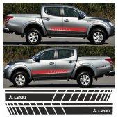 Mitsubishi L200 Yan Şerit Oto Sticker