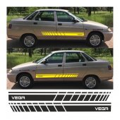 Lada Vega Yan Şerit Oto Sticker
