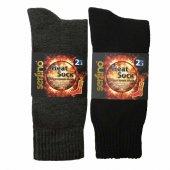 En Sıcak Şardonlu Akrilik Termal Erkek Çorabı 2 Se...