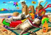 Puzzle 260 Parça Kedilerin Plaj Keyfi