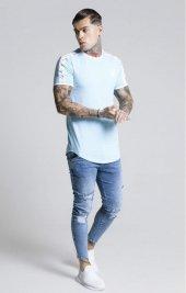 SikSilk Tape SS T-Shirt Açık Mavi Oval Kesim-4