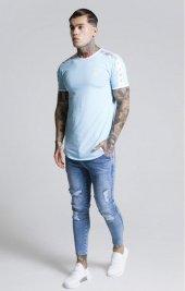 SikSilk Tape SS T-Shirt Açık Mavi Oval Kesim-5