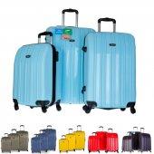 Tutqn Safari Kırılmaz 3 lu Valiz Seti (Buyuk, Orta ve Kabin) 7 Renk