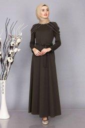 Tesettür Giyim Omuz İnci Detaylı Elbise