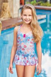 Adasea 5041 18 Turkuaz Çocuk Elbise Mayo