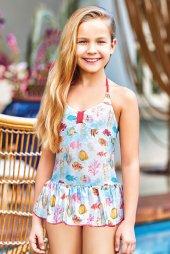 Adasea 5041 18 Mavi Çocuk Elbise Mayo