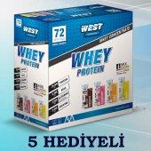 West Nutrition Whey Protein Tozu 72 Şase 2592 Gr Bir Kutuda 4 Aroma + 5 Hediye