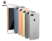 Baseus (With-Pluggy) Simple Kılıf iPhone 7 Plus/8 Plus Şeffaf Siyah-3