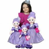 Oyuncak Prenses Balerin Bez Bebek 60 Cm Renkli Şık Elbiseli Sevimli Kraliçe Bebek