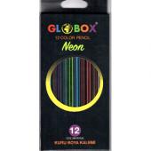 Globox Neon 12 Renk Kuru Boya Kalemi 2588 Uzun-2
