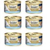Kediler İçin Balık Etli Gourmet Gold Konserve Mama 85gr X 6 Adet
