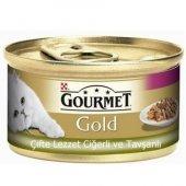 Kediler İçin Ciğerli Tavşan Etli Gourmet Gold...