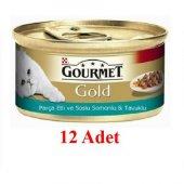 Kediler İçin Somonlu Gourmet Gold Konserve Mama...