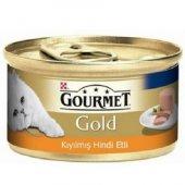 Kediler İçin Hindi Etli Gourmet Gold Konserve...