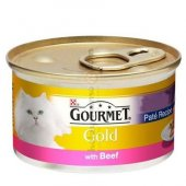 Kediler İçin Sığır Etli Gourmet Gold Konserve...