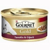 Gourmet Gold Tavuklu Ciğerli Kedi Konservesi 85...
