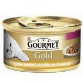 Kediler İçin Ördek Etli Gourmet Gold Konserve...