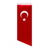 Yan Kesim Türk Masa Bayrağı (Direksiz) 8,5x25 Cm