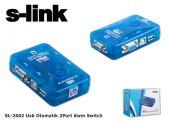 S Link Sl 2602 Usb Otomatik 2port Kwm Switch