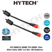 Hytech Hy Hdm10 Hdmi To Hdmi 10 Metre Altın Uç...