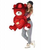 Peluş Oyuncak Ayı Kırmızı Şapkalı Love Kalp...
