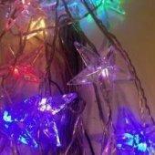 Büyük Yıldız Şekilli Renkli Led Dekoratif Aydınlatma Led Işık 9m-2