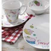 Falez Sweet Love 43 Parça 6 Kişilik Kare Porselen Kahvaltı Tk-2