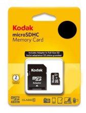Kodak Extra 16GB Micro SD Hafıza Kartı ve Adaptör SDHC Class 10-2