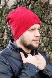 Kırmızı Renk Erkek Bere