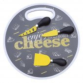 Peynir Tabağı Bıçak Seti Kesme Sunum Tabağı...