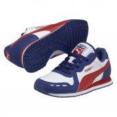 Puma Cabana Racer 351979 27 Beyaz Kırmızı Bayan Spor Ayakkabı