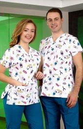 çizgi Medikal Desenli Dr Greys Modeli Cerrahi Takı...