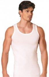 3lü Paket Seher Yıldız Klasik Beden Penye Erkek Atlet Beyaz Renk