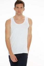 3Lü Paket Seher Yıldız Klasik Beden Penye Erkek Atlet Beyaz Renk-2