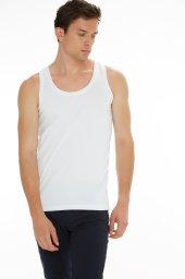 3Lü Paket Seher Yıldız Klasik Beden Penye Erkek Atlet Beyaz Renk-4