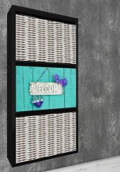 Evbox 3lü Welcome Baskılı Metal Ayakkabılık Fa 015