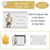 Sünnet Gold Ve Gümüş Yıldız Süslemeli Mini Set...