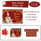 Sünnet Masası Süslemesi Gold Ve Bordo Mini Set