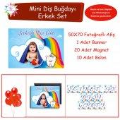Diş Partisi Gökkuşağı Diş Fırçalı Mini Set