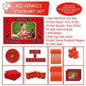 Kırmızı Puantiyeli Uğur Böceği Konsept Standart Set | Parti Çocuk
