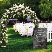 Düğün Ayaklı Pano Katlanmaz Kişiye Özel Resimli İsimli