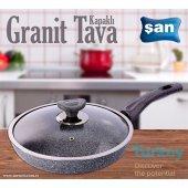 şan Granit Cam Kapaklı Tava No 30