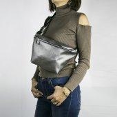 Bel Çantası Silver Tek Fermuarlı Fashion Moon...