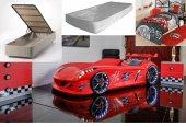 Arabalı Karyola, Farinay Jaguar +baza +yatak +nevresim