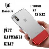 Iphone Xr Xs Max Çift Renk Rubber+silikon Kılıf Baseus