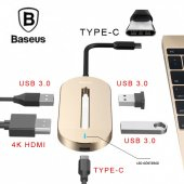 Type C Multi Çevirici Adaptör 1 Hdmı + 3 Usb + 1 Type C Baseus