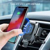Baseus Araç Wireless Araç Tetefon Tutucu (Mini Smart)