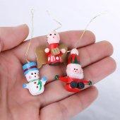 12 Adet Ahşap Yılbaşı Süs Noel Ağacı Süsleme Minyatür Ahşap Süs -4
